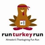 logo: Almaden Valley's Run, Turkey, Run!