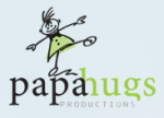 logo: papa hugs productions