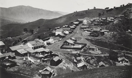 Almaden Valley Black and white Image