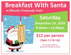 Almaden Community Center holiday events