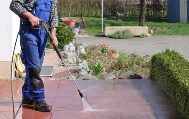 Spring cleaning checklist - power washing